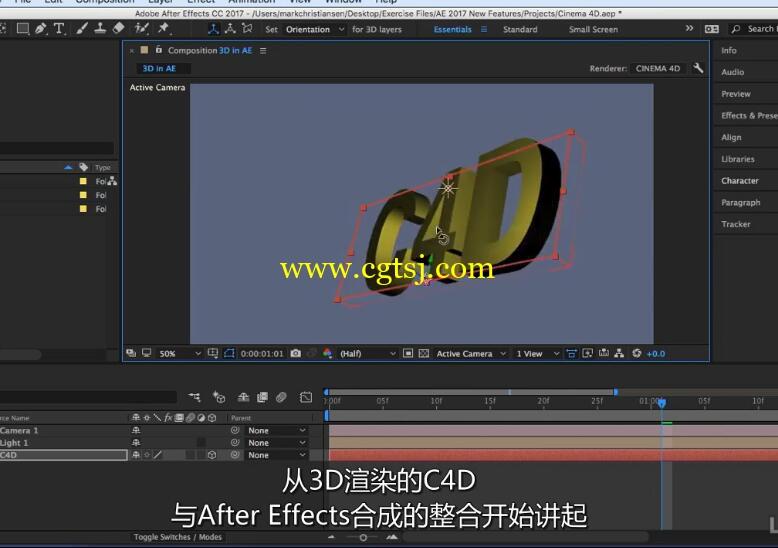 AE CC 2017新功能训练视频教程(中文字幕)的图片2