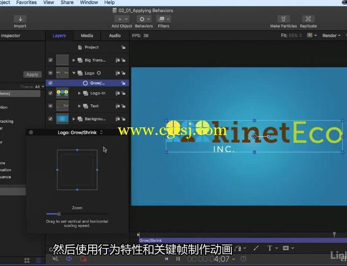 Motion 5全面核心特效技术训练视频教程(中文字幕)的图片6