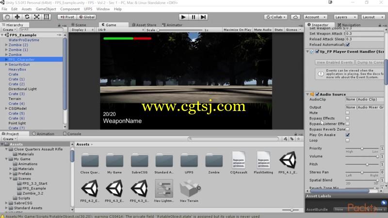 Unity与UFPS框架射击游戏制作视频教程的图片4