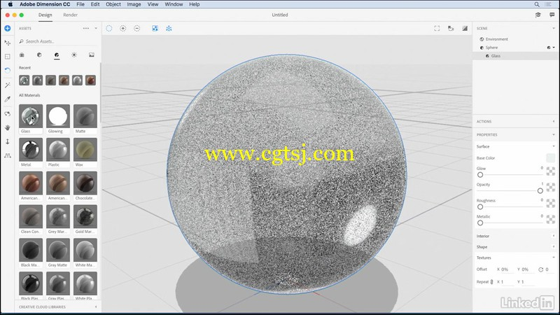 Adobe Dimension CC三维绘图入门训练视频教程的图片2