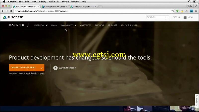Fusion360初学者功能概述视频教程的图片4