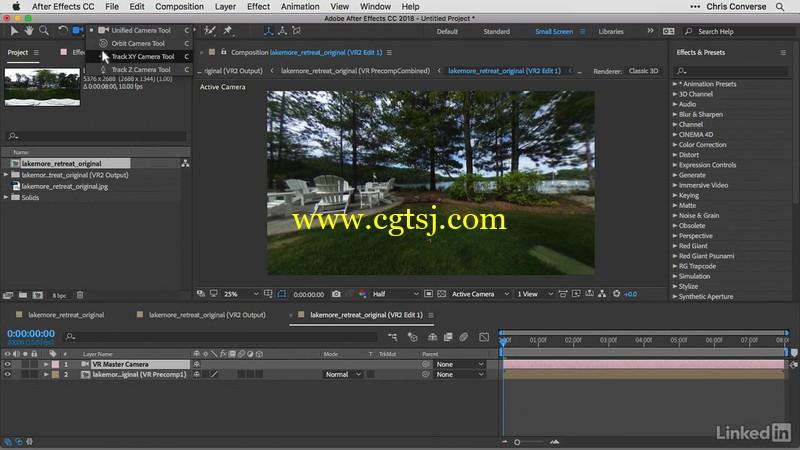 AE与PS全景球面360照片实例制作视频教程的图片2