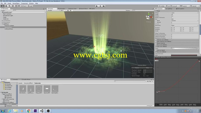 Unity与AE粒子特效游戏制作训练视频教程的图片2