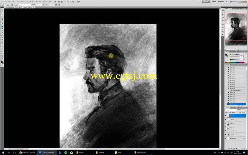人像素描数字绘画大师级实例训练视频教程的图片1