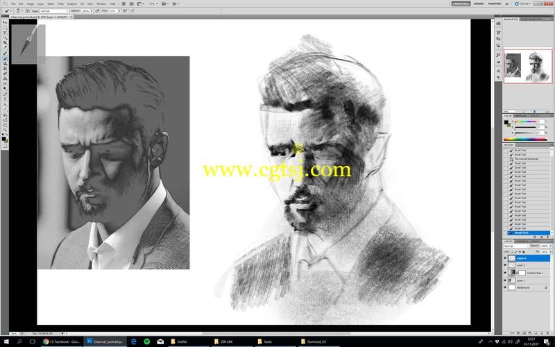 人像素描数字绘画大师级实例训练视频教程的图片2