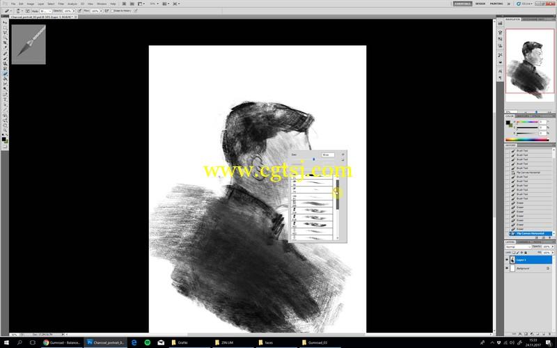 人像素描数字绘画大师级实例训练视频教程的图片3