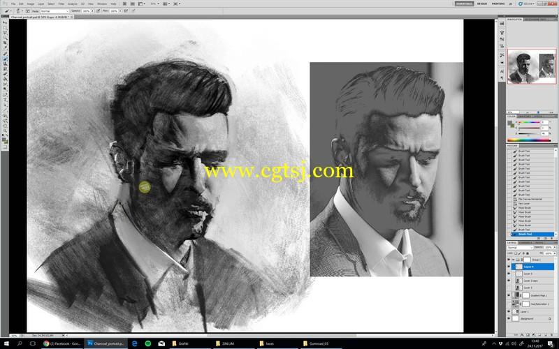 人像素描数字绘画大师级实例训练视频教程的图片4